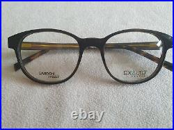 Exalto carbon / wood glasses frames. 12M081. New with case