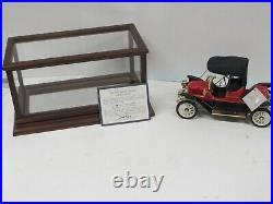 Franklin Mint Diecast in Glass & Hard Wood Case, 1911 Ford Stanley Steamer 116