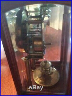 Gustav Becker 400 Day Anniversary clock Wood Case Beveled Glass 1900s