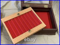 Handmade/Custom Solid Walnut Wood Fountain Pen Display Case/Box withGlass -Holds 9
