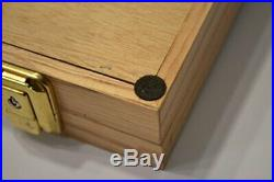 Handmade Display Case Oak 2x18x24 Two Timbers Wood Box Glass Top, Arrowheads