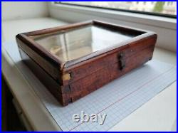 Icon case, material wood, glass. Size 16.5 15 4.5, frame inside 14.5133