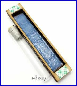JEWISH WEDDING BROKEN GLASS SHARDS KEEPSAKE MEZUZAH CASE Maple Wood HAMSA