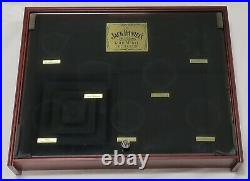 Jack Daniel's Gold Medal Wood Display Shadow Box Glass Topped Case withNO Medals