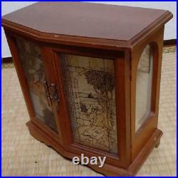 Jewelry Box with Music Box Glass Door Sankyo Accessories Case