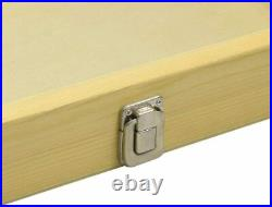 Jewelry Wood Box Organizer Case Clasp Wooden Glass Clear Top Display Storage Moo