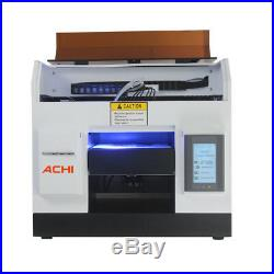 L800A4 UV Printer 6Color for Phone case Glass Metal Wood Badge Signs 3D Embossed