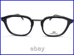 LACOSTE +0.25 to +3.5 Reading Glasses 50mm Grey Wood over Shiny Blue L2831 424