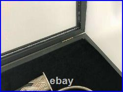 Long Display Case made of wood frame 10422/museum glass/foam rubber memory
