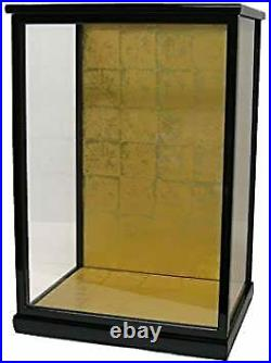 Made Of Wood Doll Case Glass 30 24 50 Black Mulberry Coating Japanese Dolls