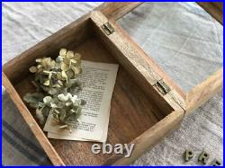Made Of Wood Glass Case Box Antique Vintage Brocanto
