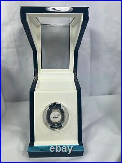 New in Box MONTBLANC Watch Winder Wood Piano Black Finish + Tempered Glass Case