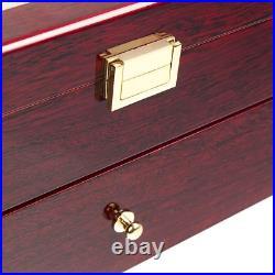 Nisorpa Wood Watch Box 20 Slots Glass Top Mens Watch Display Case Watch Box Orga