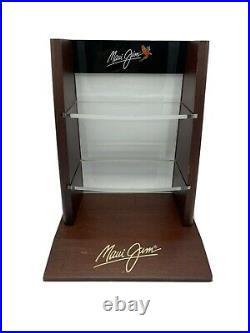 Optical Maui Jim Sunglasses Display Case Glass & Wood Very Nice