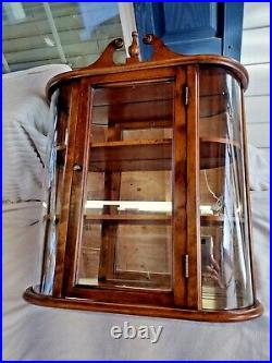Original Wood Handcrafted Mirrored & Glass Display Case