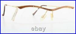 PG Glasses 303 Vintage Real Wood Handmade Gold 90s + Noble Eyes Case
