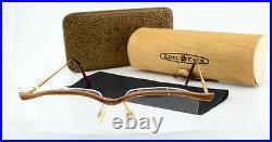 PG Glasses 603 Vintage Real Wood Handmade Gold 90s + Noble Eyes Case