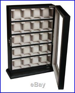 Quality Watch Jewelry Display Storage Holder Case Glass Box Organizer Gift twe