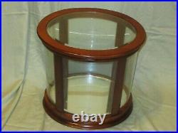 RALPH LAUREN Beveled Glass & Wood SAFARI Display Case Cabinet Advertising