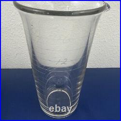 RARE 16 oz Coors Graduated Beer Beaker in Wood & Leather Case from Coors Lab