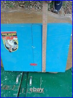 RARE OVERSIZED Vintage 1936 Gilbert CHEMISTRY GLASS BLOW Kit Wood Case