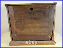 RARE Vtg Willson Safety Goggles Glasses Wood Display Case Counter Table Top