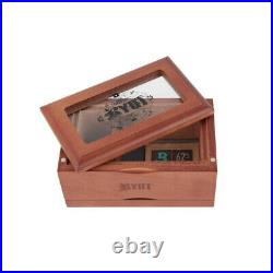 RYOT 3x5 Glass Top Screen Box Wood Glass Jar Herb Safe Raw Shine Pro Premium Lux