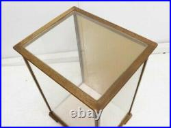 Retro Crates Made Of Wood Glass W26 D21 H38.5Cm Japanese Dolls Case Ornament
