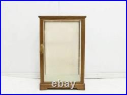 Retro Wooden Frame Made Of Wood Glass W28.5 D25 H45Cm Japanese Dolls Case