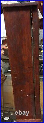 SMALL WOOD WithGLASS DOOR STORE COUNTER TOP DISPLAY CASE With1 WOOD SHELF 16 TALL