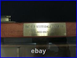 Scottsdale cigar display case wood glass countertop cigar display case cabinet