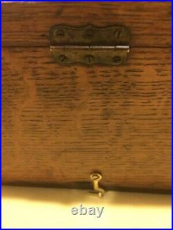 Sealpackerchief Hanky Old Store Advertising Oak Wood & Glass Display Case 1900s