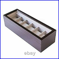Secondhand Imported Goods Case Elegance Watch Organizer Box Solid Wood Glass