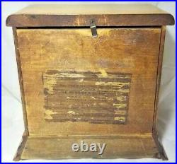 Sessions Clock Wood Case 8 Day Key Wind Glass Door Front 10 BEAUTIFUL