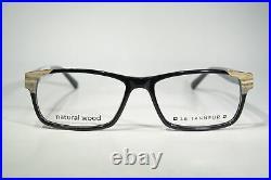 Size Large LE TANNEUR LE366 Real Wood Decorated Glasses Frames Eyeglasses + Case