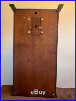 Sligh Wall clock Cherry Wood Case with Reverse Painted Glass Westminister Chime