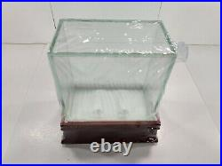 Steiner Sports Wood and Glass Mint Unused Hockey Puck Display Cases (Case of 8)