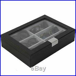 Sunglasses Case Storage Black Wood Grain Glass Window
