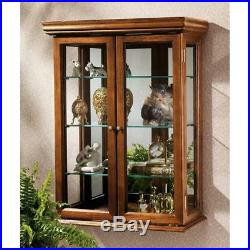 Tuscan Country Style Wall Curio Cabinet 26 Hardwood Display Case