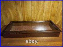 Up For Sale Is A Very Nice Wood And Glass Table Top Display Case