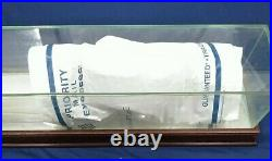 Used REAL GLASS with CHERRY WOOD BASEBALL BAT Mirrored DISPLAY CASE 3 foot 36