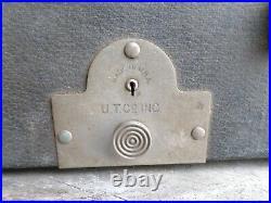 Vintage 1920s Glass Keytops Wood Grain Paint Underwood Typewriter With Case