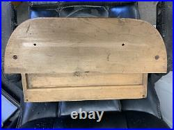 Vintage Amity Billfold Store Counter Display Case Wood with Curved Glass RARE