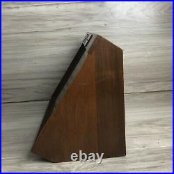 Vintage Buck Knives Wood & Glass Front Counter Top Advertising Display Case