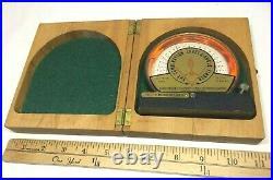 Vintage Combination Level & Angle Finder (Glass) with Wood Case (Alfred Emerson)
