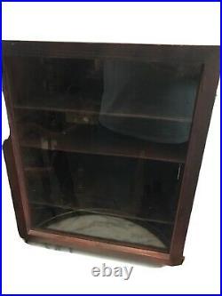 Vintage Countertop General Store Glass Wood Display Case WithBack Door Kwiksale