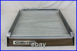 Vintage Gillette Razor Wood Glass Hinged Store ADVERTISING Counter Display Case