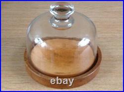 Vintage Glass Dome Wood Base x3 ex ClockmakerMilitary Arrow Marking BB Ltd 1945