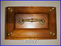Vintage Hamilton Mantle Clock Made In Germany Wood Case Glass Backing Handle
