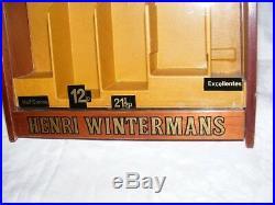 Vintage Henri Wintermans Glass Front Display Case Shop Display Cigar Adveritsing